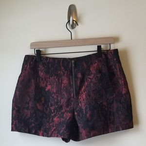 Lucca Couture Shorts - Red & Black Snake Print Shorts by Lucca Couture